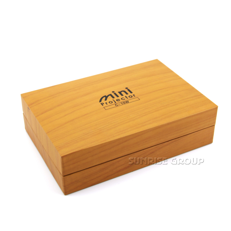 Sunrise Wooden Textured Paper Packaging Box