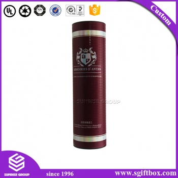 Luxury Paper Cardboard Packaging Gift Round Tube Boutique Wine Box