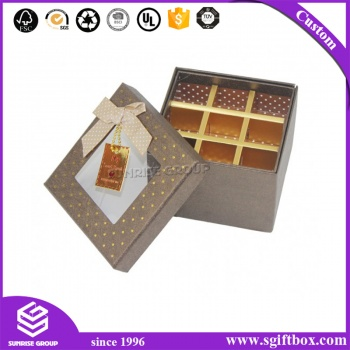 Custom Hand-made Luxury Rectangle Packaging Hard Paper Macaroon Chocolate Box