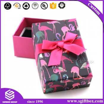 Cardboard Jewelry Organizer Packaging Gift Box with Silk