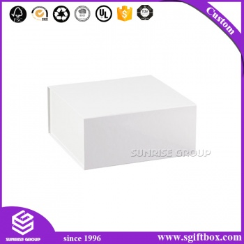 White Color Space Saving Paper Packaging Gift Folding Box