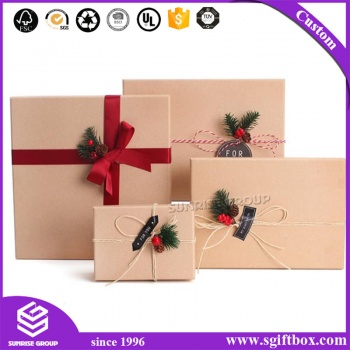 Romantic Square Cardboard Custom Pattern Gift Packaging Box
