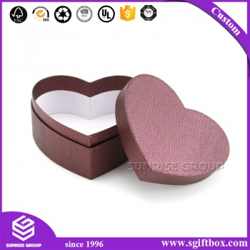 Retail Shop Nice Quality Heart Shape Customized Luxury Gift Packing Box