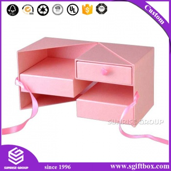 Custom Paper Packaging Gift Box with Ribbon