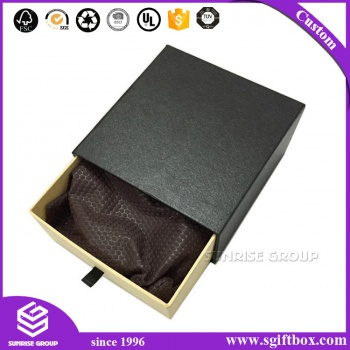 Luxury Design Gift Packaging Paper Drawer Box With Ribbon