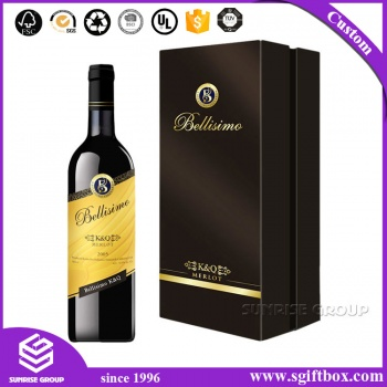 High-end Divided Custom Logo Gold Foil Paper Wine Box
