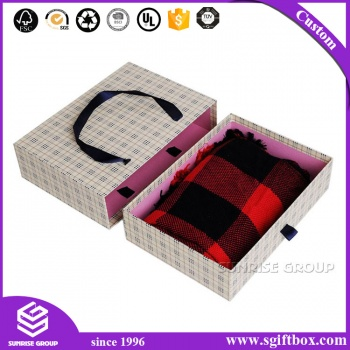 Elegant Rigid Paper Packaging Scarf Drawer Box