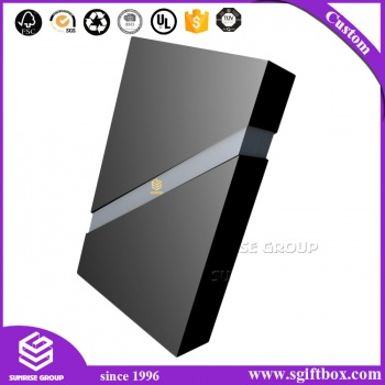 Custom Logo Black Cardboard Drawer Slide Packaging Boxes Manufacture