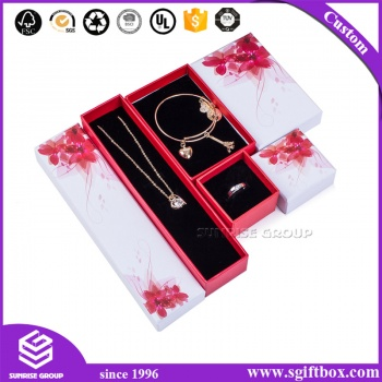 Customized Logo Cardboard Packaging Gift Jewelry Box