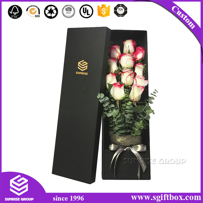 Rectangle Paper Handmade Wedding Flower Packaging Box