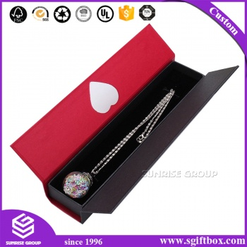 Magnetic Closure Jewelry Ring Necklace Gift Paper Box