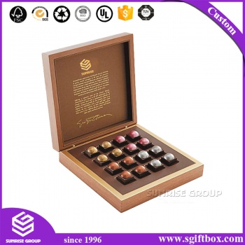 Printed Cardboard Paper Luxury Wooden Packaging Chocolate Box