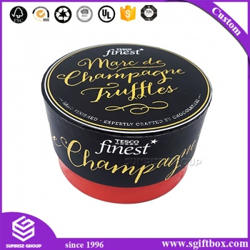 Custom Printed Round Cardboard Chocolate Packaging Box