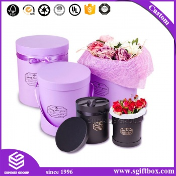 Custom Logo Printing Pure Color Flower Box