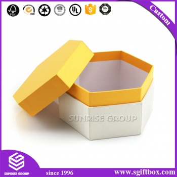 Cardboard Jewelry Organizer Hexagon Packaging Case Gift Box