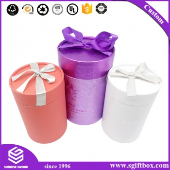 Alibaba Different Design Custom Round Tube Candle Gift Box