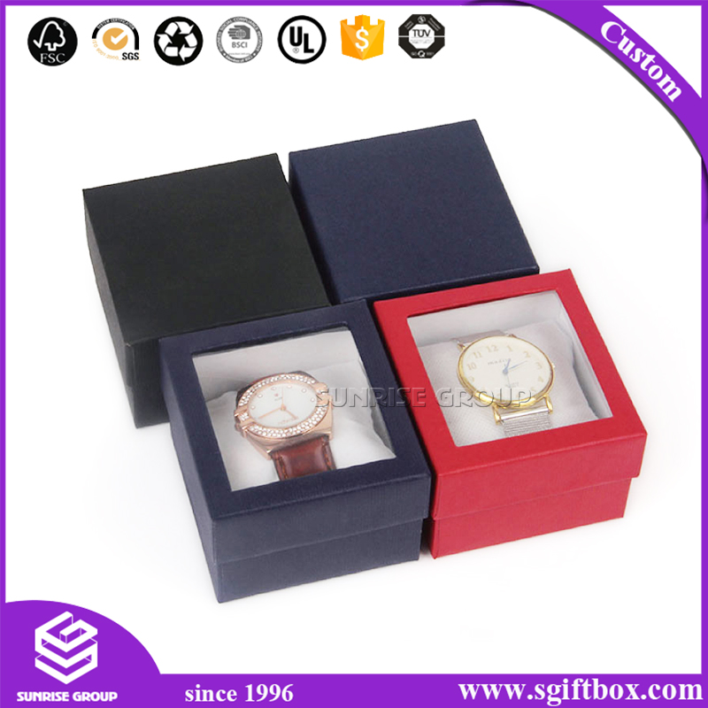 Manufacturer Wholesale Customized Clear Packaging Watch Paper Box