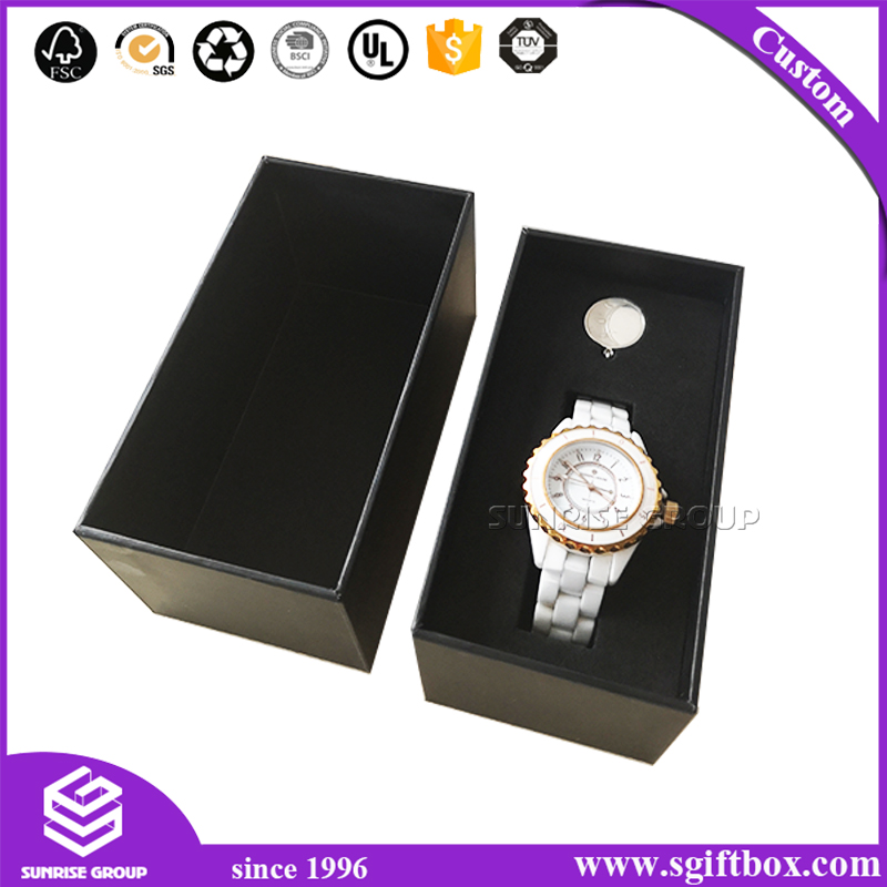 Manufacturer Wholesale Black Watch Packaging Gift Display Box