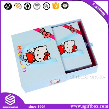 Cute Hello Kitty Paper Box For Baby Gift Clothing Packaging