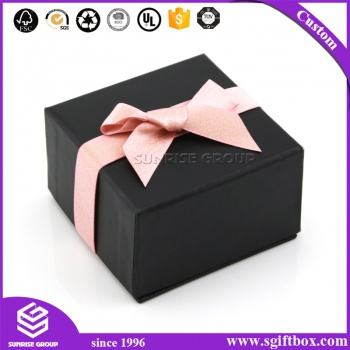 Sunrise Jewelry Gift Ring Necklace Packaging Box with Ribbon