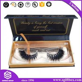 Hand-made Custom Paper Packaging Cosmetic Organizer Eyelash Display Gift Box