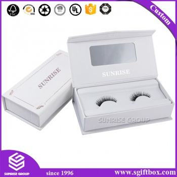 Custom Cardboard Book Shaped Gift Packaging Eyelash Display Box
